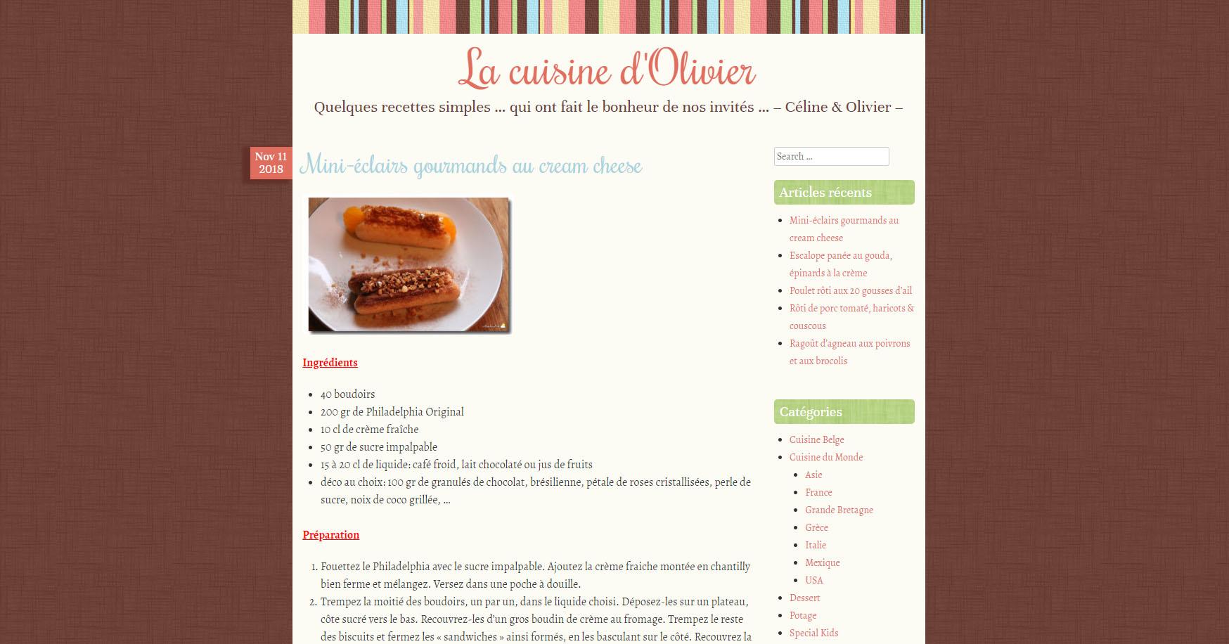 Un nouvel hébergement pour La Cuisine d'Olivier