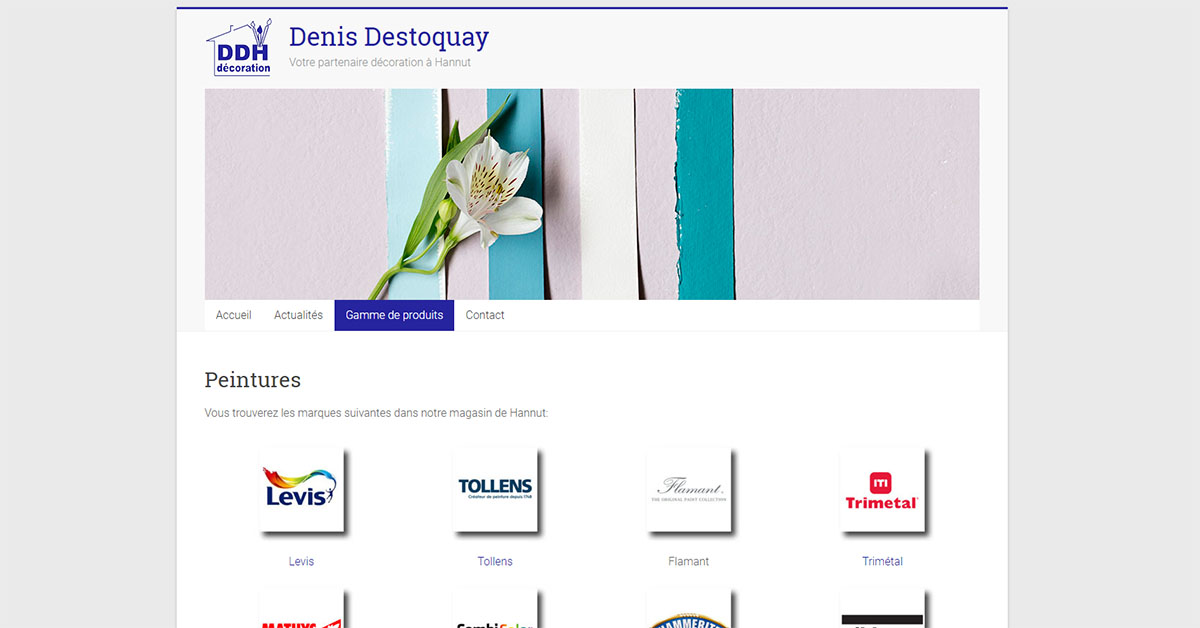 Le magasin de peinture Destoquay est maintenant sur le web