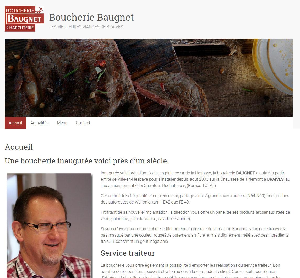 Lancement du site web de la boucherie Baugnet