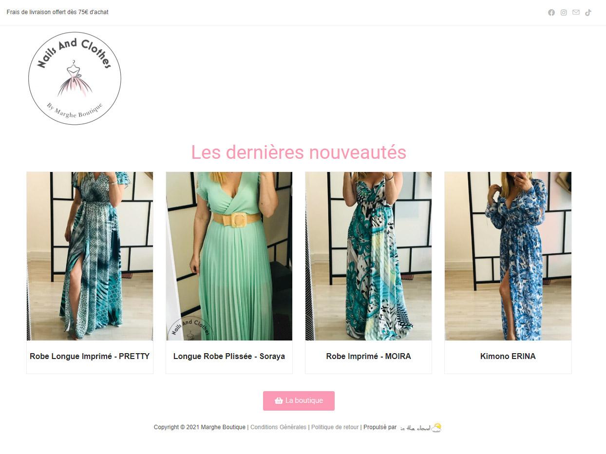 Read more about the article Nouveau webshop pour Marghe Boutique